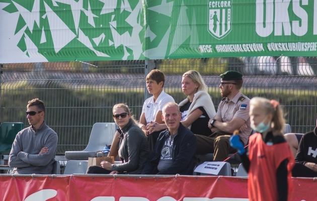 Võiks ära tunda! Aga kui ei tunne, siis tagumises reas vasakult esimene. Foto: Jana Pipar / jalgpall.ee