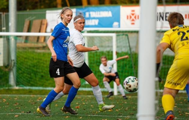 Tülp (valge peapaelaga) aitas Saku Sportingul teha sammu hõbedase läikega medalite poole. Foto: Oliver Tsupsman