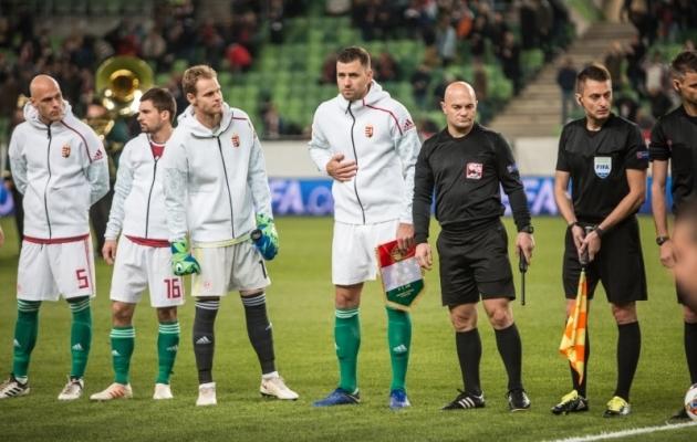 """""""Patuoinaks"""" olnud Szalai (keskel) lõi 2018. aasta sügisel Ungari eest Eestile kahes kohtumises kolm väravat. Foto: Jana Pipar / jalgpall.ee"""