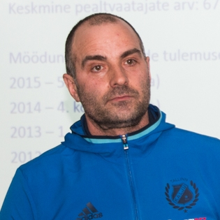Nõmme Kalju noortetreener Zaur Tšilingarašvili. Foto: Soccernet.ee arhiiv