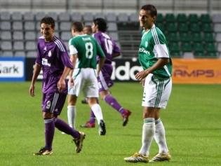 FCI Levadia ja Galatasaray kordusmäng 2009. aasta Euroopa liiga play-off'is. Mäng lõppes 1:1 viigiga, aga avamängu Istanbulis oli Levadia 0:5 kaotanud. Foto: Catherine Kõrtsmik