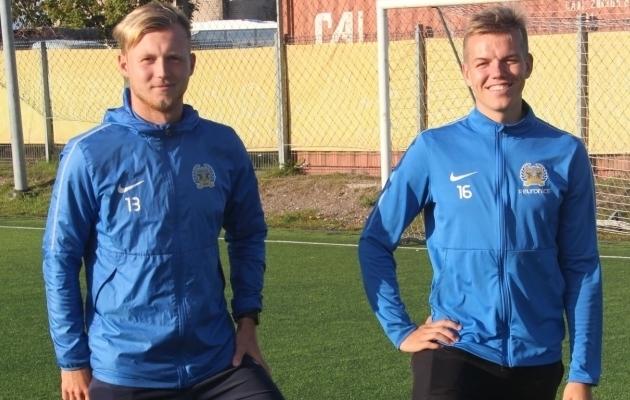 Maarek Suursaar ja Reivo Vinter. Foto: Alver Kivi / FC Kuressaare Facebook
