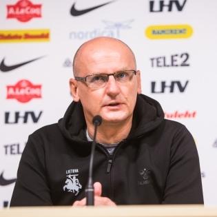 Leedu peatreener Valdas Urbonas, Foto: Jana Pipar / jalgpall.ee