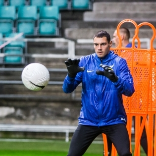 Väravavaht Matvei Igonen. Foto: Jana Pipar / jalgpall.ee