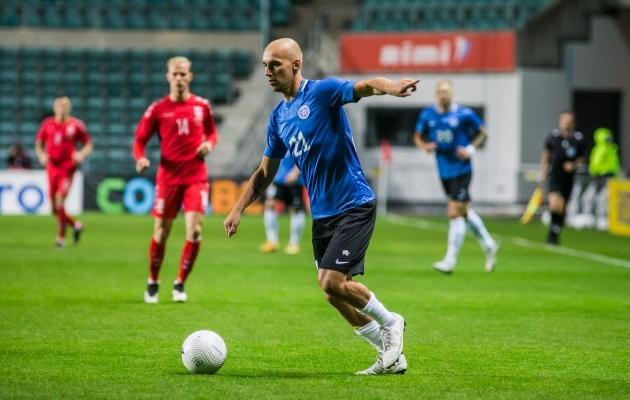Leedu vastu sai Baranov kirja karjääri 40. koondisemängu. Foto: Jana Pipar / jalgpall.ee