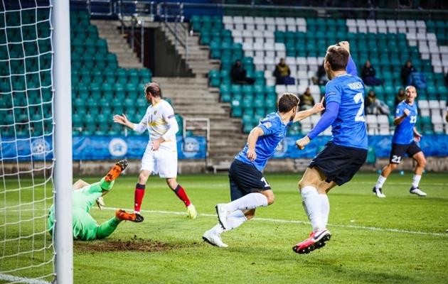 Eesti skooris kolmandat mängu järjest. Teist mängu järjest võeti punkt. Foto: Oliver Tsupsman