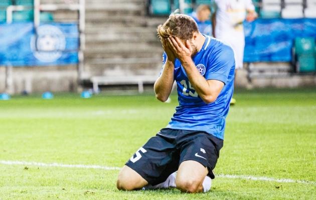 Rauno Sappinen pärast 37. minuti võimalust. Foto: Oliver Tsupsman