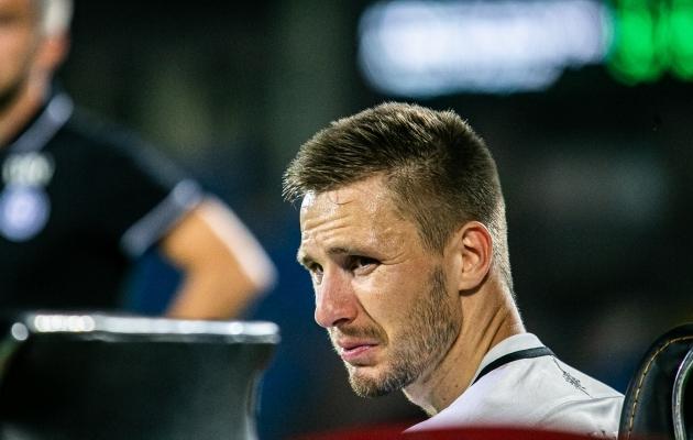 Karol Metsa kaotusevalu pärast 0:2 kaotust Armeeniale septembris. Foto: Brit Maria Tael
