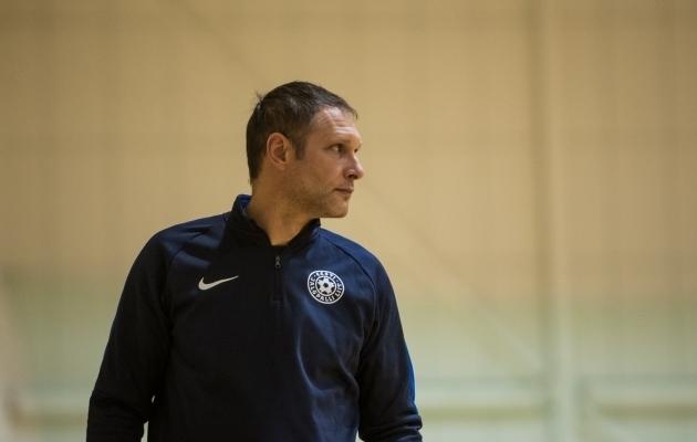 Eesti saalijalgpalli U19 koondise peatreener Dmitri Skiperski. Foto: Jana Pipar / jalgpall.ee
