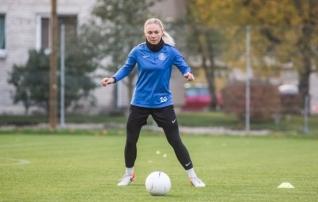 Galerii: Eesti naiste koondis annab enne suuri mänge Hollandi ja Sloveeniaga vormile viimast lihvi