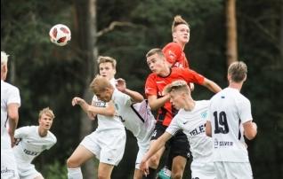 Flora U21 alistas väravaterohkes kohtumises Unitedi lõpuminutite tabamusest
