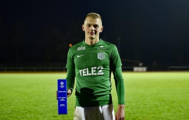 FC Flora ääreründaja Vlasi Sinjavski. Foto: Liisi Troska / jalgpall.ee
