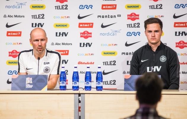 Karel Voolaid ja Sander Jürjens. Foto: Jana Pipar / jalgpall.ee