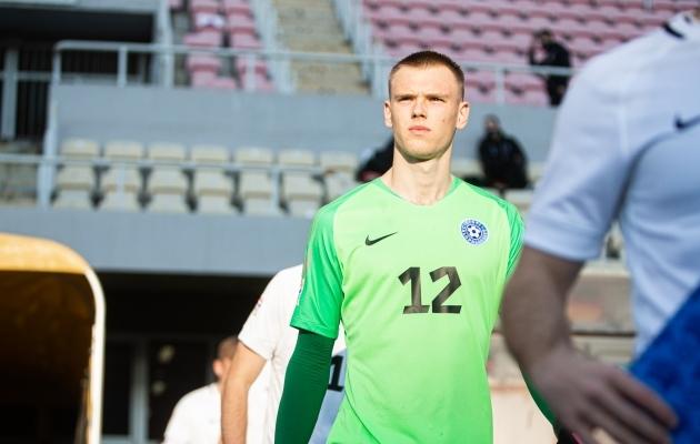 Karl Jakob Hein tegi võõrsil Põhja-Makedoonia vastu partii, millega kinnitas, et just tema on Eesti parim väravavaht. Foto: Jana Pipar / jalgpall.ee