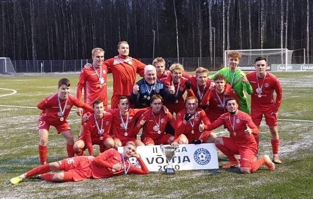 Tallinna JK Legioni duubelrivistus võitis Eesti meistrivõistluste II liiga. Foto: Tallinna JK Legioni Facebooki-leht