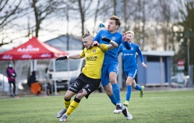 Sander Kapper teenis enim vigu ja tegi kõige rohkem edukaid driblinguid. Foto: Liisi Troska / jalgpall.ee