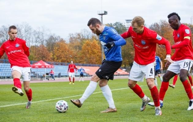 Narva Trans ja Tallinna Kalev kohtusid viimati 31. oktoobril, kui Kadrioru staadionil jäi 4:1 peale Kalev. Foto: Oliver Tsupsman