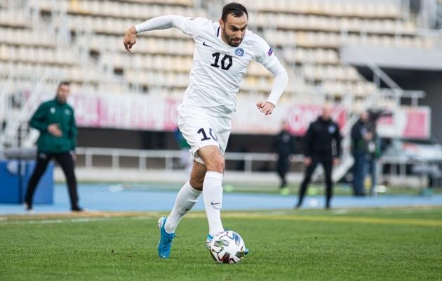Eesti koondise ründaja Sergei Zenjov liitus FC Floraga. Foto: Jana Pipar / jalgpall.ee