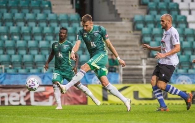 Juri Kolmojetsit ja Gandot tahaks klubi rohelises särgis näha ka tuleval hooajal. Foto: Jana Pipar / jalgpall.ee