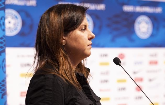 Jalgpallikohtunik ja koolijuht Reelika Turi. Foto: Liisi Troska / jalgpall.ee