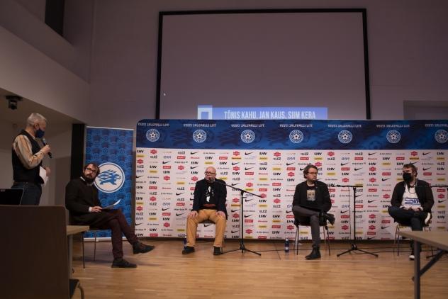 Indrek Schwede, Joosep Susi, Tõnis Kahu, Jan Kaus ja Siim Kera. Foto: Liisi Troska / jalgpall.ee