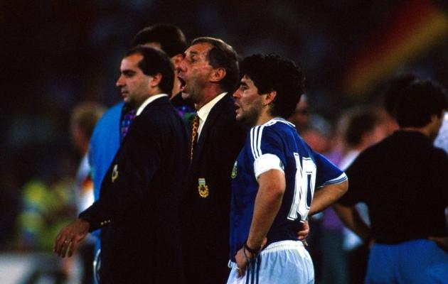 Maradona ja Bilardo. Foto: Scanpix / imago / Norbert Schmidt