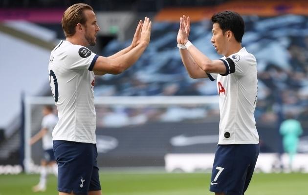 Tottenhami ründajad Harry Kane ja Heung-Min Son. Foto: Scanpix / Michael Regan / Reuters