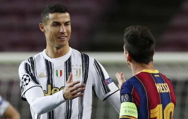 Cristiano Ronaldo ja Lionel Messi said taas kokku. Foto: Scanpix / Albert Gea / Reuters