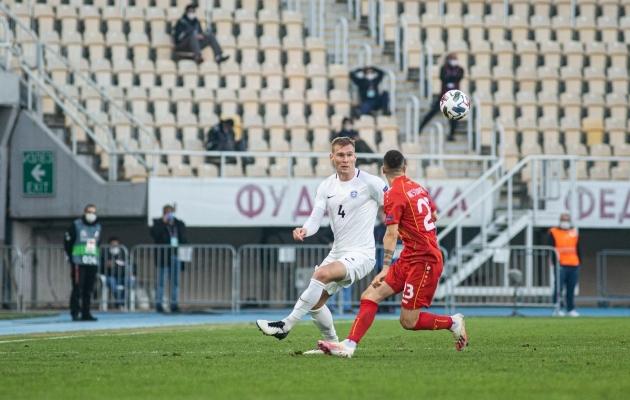Joonas Tamm koondisesärgis. Foto: Jana Pipar / jalgpall.ee