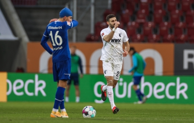 Schalke fännidele harjumuspärane vaatepilt. Foto: Scanpix / Tim Rehbein / RHR-FOTO