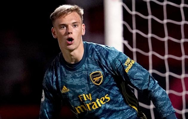 Arsenali väravavaht Karl Jakob Hein. Foto: Scanpic / Tess Derry / Empics Sport