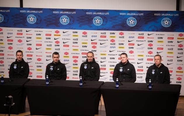 Pressikonverentsi läbis Thomas Häberli äärmiselt edukalt. Foto: Jana Pipar / jalgpall.ee