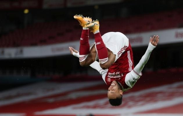 Pierre-Emerick Aubameyang. Foto: Scanpix / Catherine Ivill / Pool / Reuters
