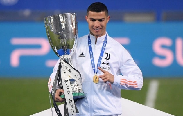 Ronaldo 760. värav tõi talle 29. klubiga teenitud tiitli. Foto: Scanpix / Alberto Lingria / Reuters
