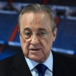 Madridi Reali presidendil Florentino Perezil on praegu halb tuju. Foto: Scanpix / AFP / Oscar del Pozo