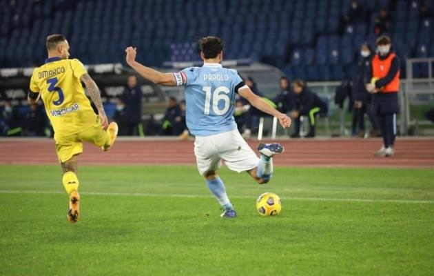 Kapten Parolo (16) näitas täna kindlat mängu nii kaitse- kui ka ründeliinis. Foto: Scanpix / Paolo Pizzi / ZUMAPRESS.com