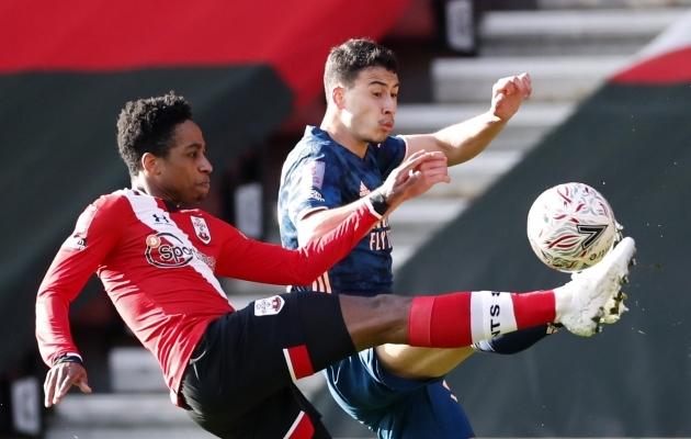 Kyle Walker-Petersi eeltöö aitas Southamptoni karikasarjas kaheksandikfinaali. Foto: Scanpix / Reuters / Andrew Boyers