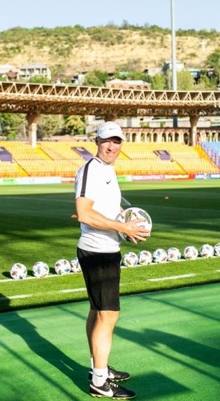 Karel Voolaid 2020. aasta septembris Armeenias enne Rahvuste liiga kohtumist. Foto: Brit Maria Tael