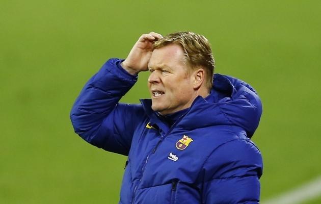 Barcelona peatreener Ronald Koeman. Foto: Scanpix / Reuters / Marcelo del Pozo