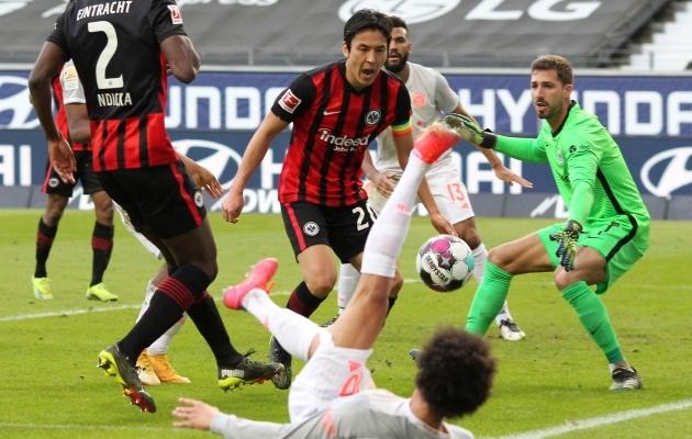 Eintracht pani jälle Bayerni selili. Foto: Scanpix / AFP / Daniel Roland
