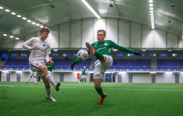 Kevin Mätas (vasakul) alustab hooaega Tammeka särgis. Foto: Jana Pipar / jalgpall.ee
