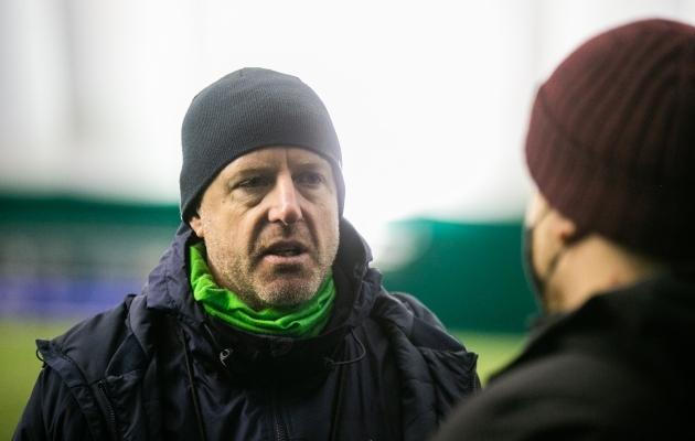 Esinduse värske abitreener Indrek Zelinski on lubanud Erki Kesküla abistada ka U21 võistkonna juures. Foto: Brit Maria Tael