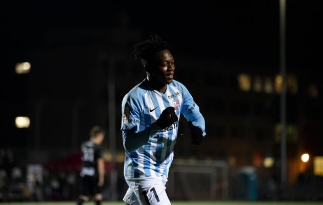 Hadji Drame võib hooaja alguses mängida pigem U21 võistkonna eest. Foto: Liisi Troska / jalgpall.ee