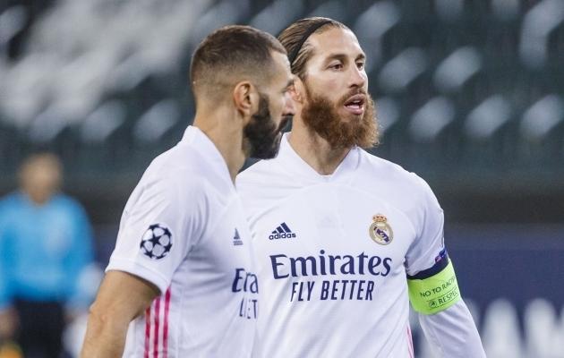 Real Madridi kaitsja Sergio Ramos ja ründaja Karim Benzema ei saa Meistrite liiga kaheksandikfinaali avamängus osaleda. Foto: Scanpix / Pablo Garcia / SIPA