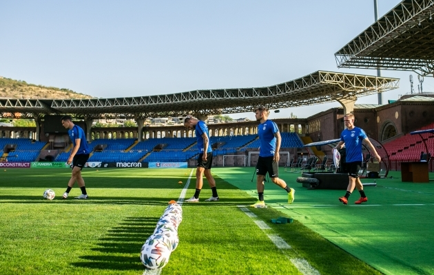 Septembris sai Antonov omapärase kogemuse: mängida Armeenias mängiva Eesti koondislasena Armeenias Eesti eest Armeenia vastu. Foto: Brit Maria Tael