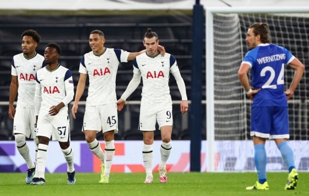 Tottenham väravat tähistamas. Foto: Scanpix / Hannah McKay / Reuters
