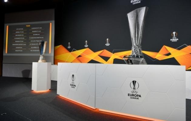 Euroopa liiga 1/8-finaalpaaride loosimine toimus UEFA peakorteris. Foto: Scanpix / AFP / Harold Cunningham