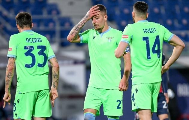 Lazio mehed ei suuda uskuda, mis nendega praegu toimub. Foto: Scanpix / Ettore Griffoni / LPS via ZUMA Wire