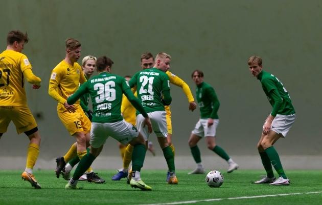 Mäng Kuressaare vastu oli väga hea, aga tulemus polnud sugugi see, mida sooviti. Foto: Raido Kull