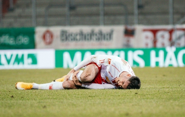 Regensburgi Jahn peab klubi ajaloo esimest karikasarja veerandfinaali veel ootama. Foto: Scanpix / Imago images / Sascha Janne